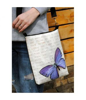 """Женская сумка через плечо """"Винтажна бабочка"""""""
