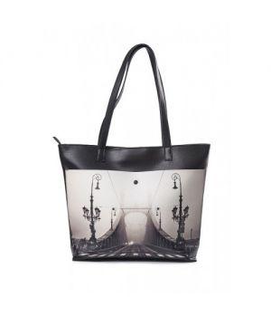 "Женская сумка-шоппер ""Мост в тумане"""