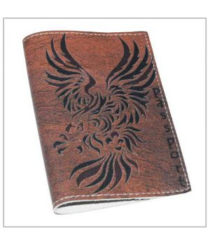 Кожаная мужская обложка для паспорта -Дракон-