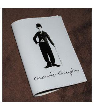 Шкіряна обкладинка для паспорта -Чарлі Чаплін-