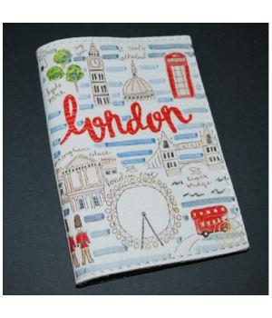 Шкіряна обкладинка для паспорта/закордонного паспорта -Прогулянка по Лондону-
