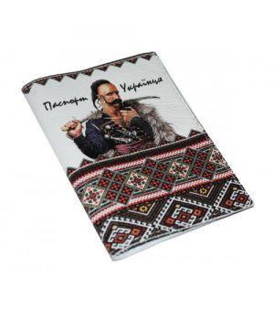 Шкіряна чоловіча обкладинка для паспорта -Паспорт українця-