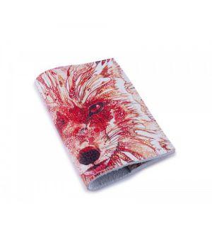 Шкіряна жіноча обкладинка для паспорта -Лисиця-
