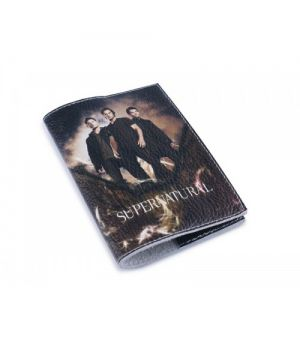 Кожаная обложка для паспорта -Сверхъествественное-