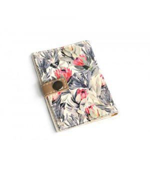 Обложка для ID паспорта -Цветочный-