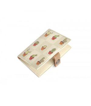 Обложка для биометрического паспорта -Кактусы-