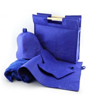 Подарунковий набір для лазні/бані 5в1 фетровий (синій)