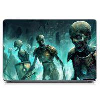 """Универсальная наклейка на ноутбук 15.6""""-13.3"""" Скелеты Матовая 380х250 мм"""
