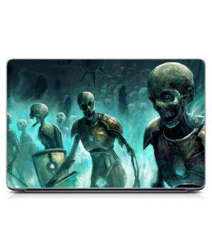"Універсальна наклейка для ноутбука 15.6""-13.3"" Скелети Матова 380х250 мм"