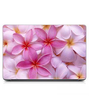 """Універсальна наклейка для ноутбука 15.6""""-13.3"""" Рожеві квіти Матова 380х250 мм"""
