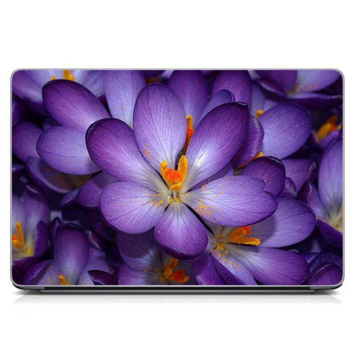 Наклейка на ноутбук Фиолетовый цветок Матовая