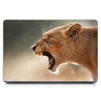 """Универсальная наклейка на ноутбук 15.6""""-13.3"""" Ярость Матовая 380х250 мм"""