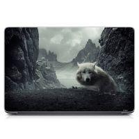 """Универсальная наклейка на ноутбук 15.6""""-13.3"""" Одинокий волк Матовая 380х250 мм"""
