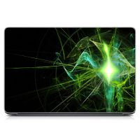 """Універсальна наклейка для ноутбука, 13.3""""-17.3"""" 400x260 мм Зелена абстракція Матова"""