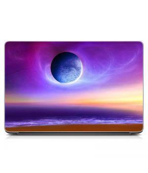 "Універсальна наклейка для ноутбука 15.6""-13.3"" Фіолетова композиція Матова 380х250 мм"