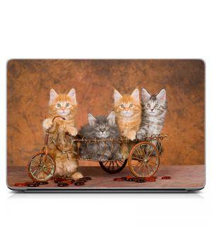 "Универсальная наклейка на ноутбук 15.6""-13.3"" Котята Матовая 380х250 мм"