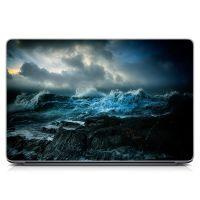 """Универсальная наклейка для ноутбука, 13.3""""-17.3"""" 400x260 мм Бушующее море Матовая"""