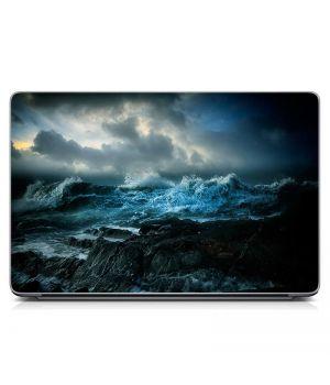 """Універсальна наклейка для ноутбука, 13.3""""-17.3"""" 400x260 мм Розбурхане море Матова"""