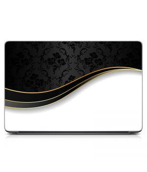 "Универсальная наклейка на ноутбук 15.6""-13.3"" Черно Белая Матовая 380х250 мм"