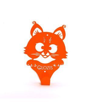 Вішалка гардеробна настінна Glozis Kitty Orange