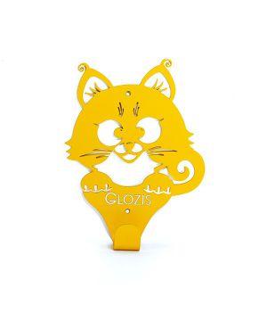 Вешалка гардеробная настенная Glozis Kitty Yellow