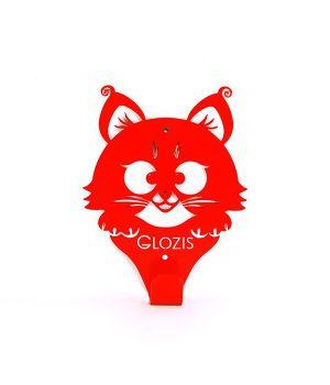 Вешалка гардеробная настенная Glozis Kitty Red