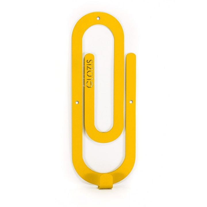 Настінна вішалка для одягу Glozis Clip Yellow