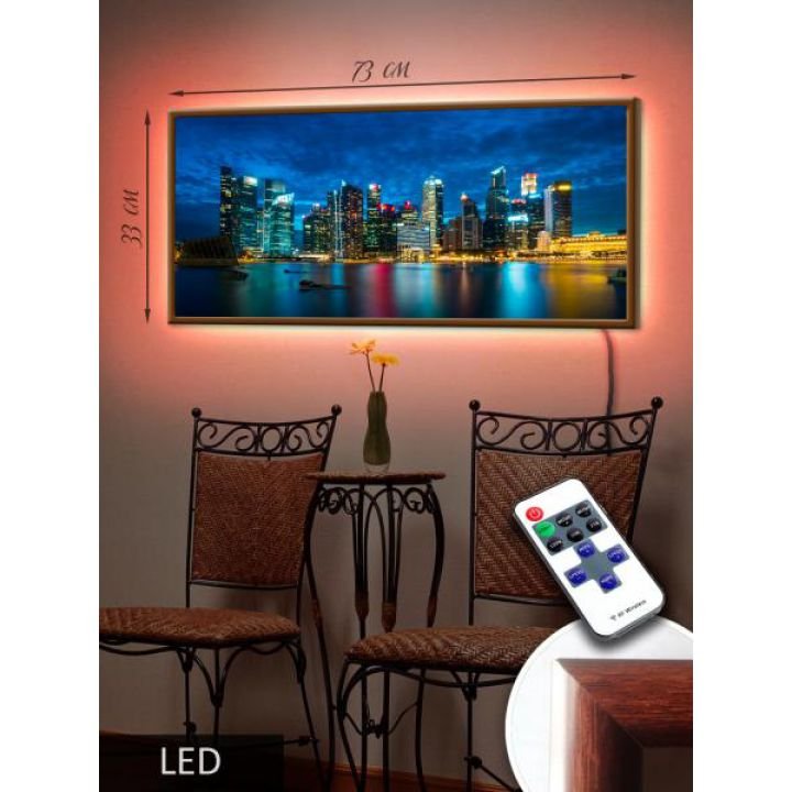 LED Картина 73x33см Манхетен