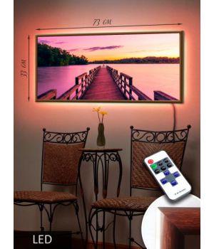 LED Картина 73x33см Вымостка