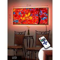 LED Картина 73x33см Осенняя листва