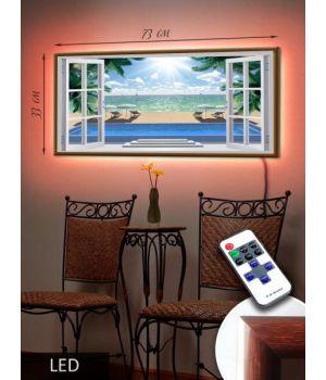 """LED Картина """"Окно в море"""""""
