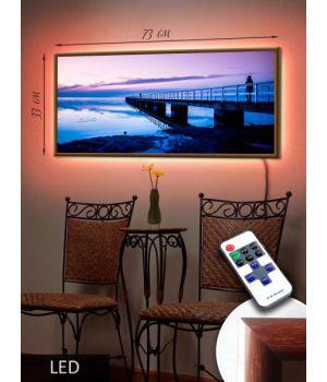 LED Картина 73х33см