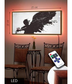 LED Картина 73x33см Ангел