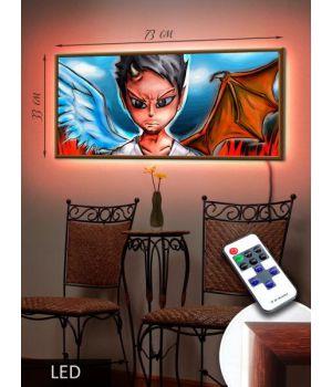 LED Картина 73x33см Аниме