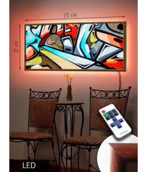 LED Картина 73x33см Арт