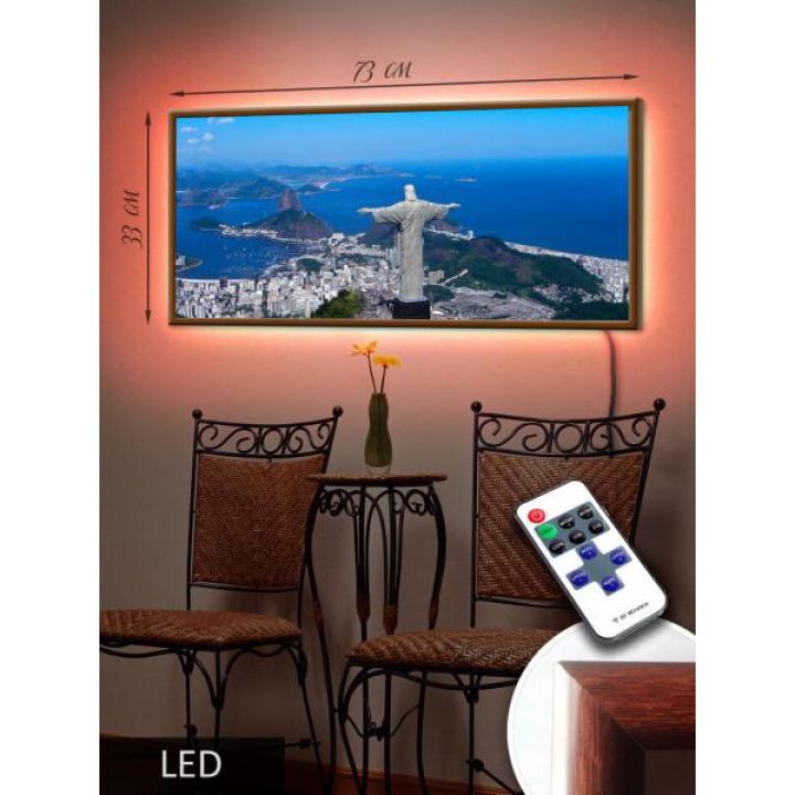LED Картина 73x33см Рио