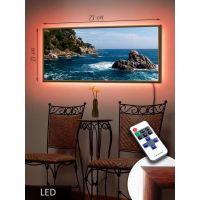 LED Картина 73x33см У острова
