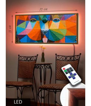 LED Картина 73х33см Арт пес