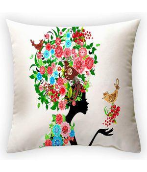 Декоративная подушка Цветочная фея