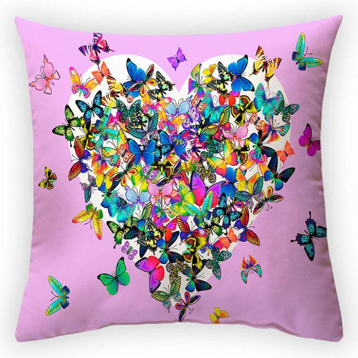 Декоративная подушка Сердце бабочки