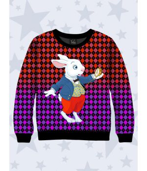 Детский свитшот Кролик в жилетке