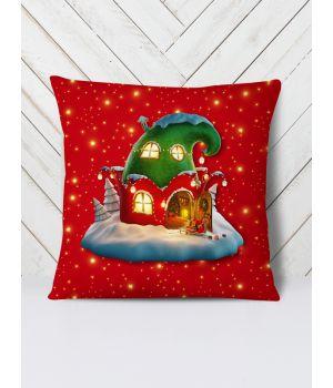 Подушка Новорічний будинок