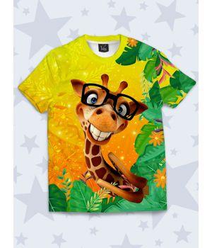 Детская футболка Жираф в очках