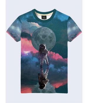 Мужская футболка Астронавт на неизведанной планете
