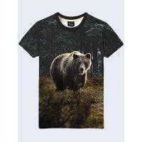 Мужская футболка Медведь на поляне
