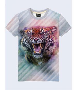 Чоловіча футболка Тигр та полоски