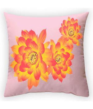 Декоративная подушка Огненный цветок