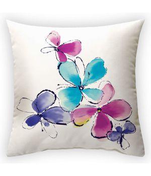 Декоративная подушка Порхающий цветок