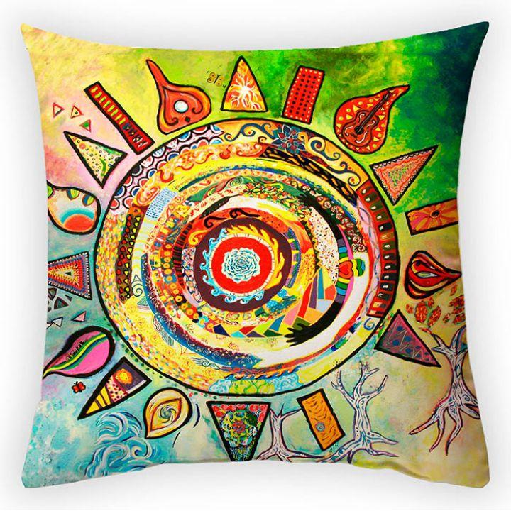 Декоративная подушка Солнечная
