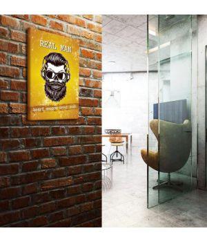 """Постеры """"Real Man"""" barbershop 30x40 cm"""